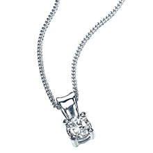 9ct White Gold 0.15 Carat Diamond Solitaire Pendant - Product number 5381061