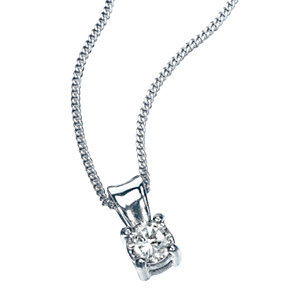 9ct White Gold 1/4 Carat Diamond Pendant - Product number 5381096