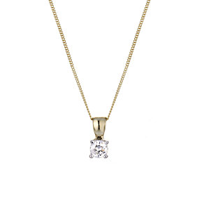9ct Yellow Gold 1/4 Carat Diamond Necklace - Product number 5381258