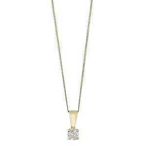9ct GoldThird Carat Diamond Solitaire Pendant - Product number 5381266