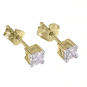 9ct Yellow Gold Quarter Carat Diamond Stud Earrings - Product number 5381274