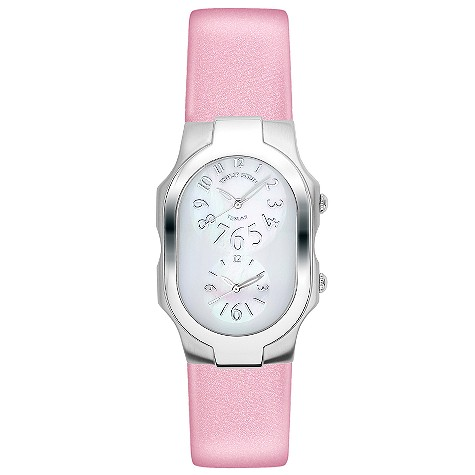 Philip Stein ladies' pink leather strap watch