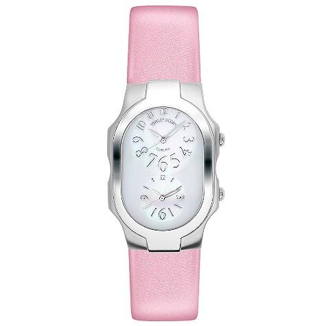 Philip Stein ladies' pink leather strap watch