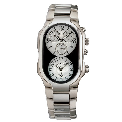 Philip Stein mens bracelet chronograph watch
