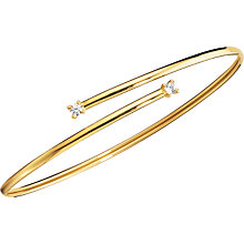 9ct Gold Cubic Zirconia Bangle - Product number 5387701
