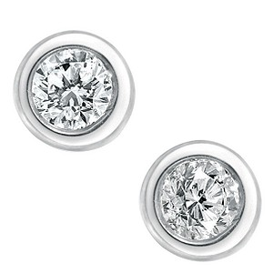 9ct white gold 15 point solitaire diamond earrings - Product number 5402654