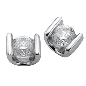 Platinum third carat diamond stud earrings - Product number 5402891