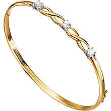 9ct Gold Cubic Zirconia Kiss Bangle - Product number 5404819