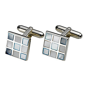Sterling silver blue mother of pearl cufflinks - Product number 5406498