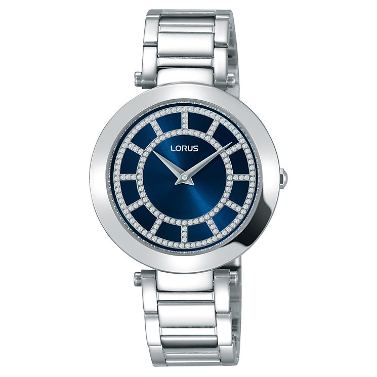 Lorus Ladies' Stone Set Stainless Steel Bracelet Watch - Product number 5410037