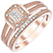 Perfect Fit 9ct Rose Gold 0.12ct Diamond Bridal Ring Set - Product number 5411890