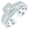 Perfect Fit 9ct White Gold 1/3 Carat Diamond Bridal Ring Set - Product number 5412595