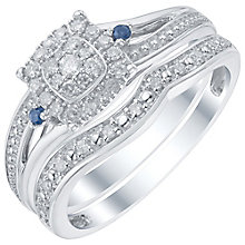 Perfect Fit 9ct White Gold 1/5ct Diamond Bridal Ring Set - Product number 5414024