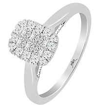 Princessa 9ct White Gold 1/3ct Diamond Cluster Ring - Product number 5415314