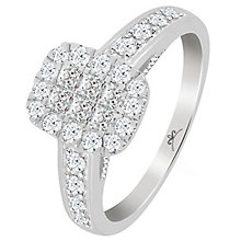 Princessa 9ct White Gold 0.66ct Diamond Ring - Product number 5415721