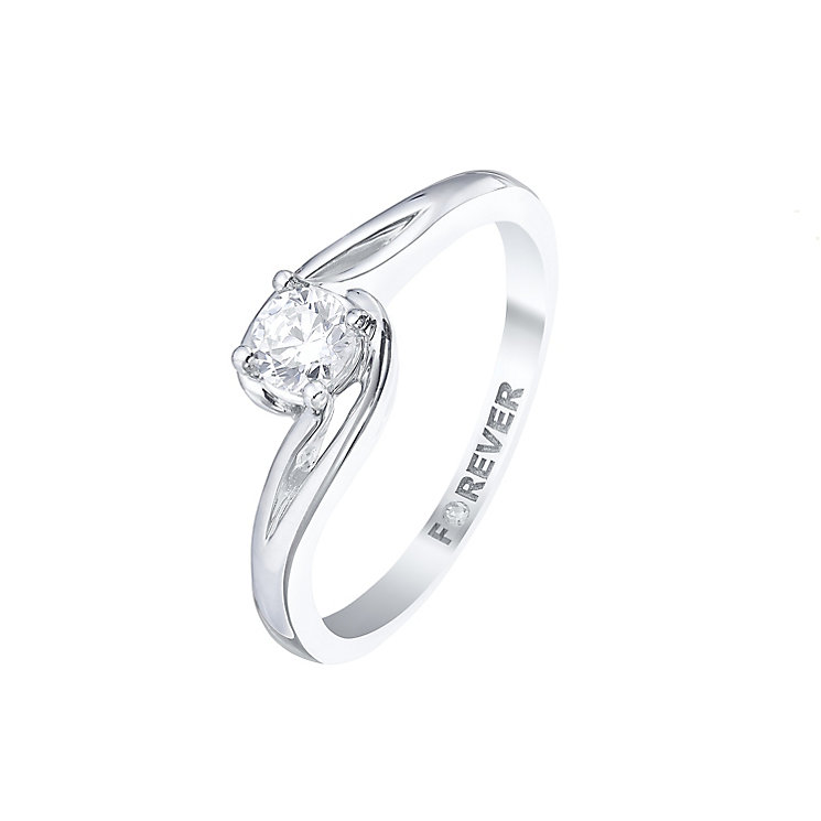 Forever Palladium 1/4ct Diamond Solitaire Twist Ring - Product number 5421209