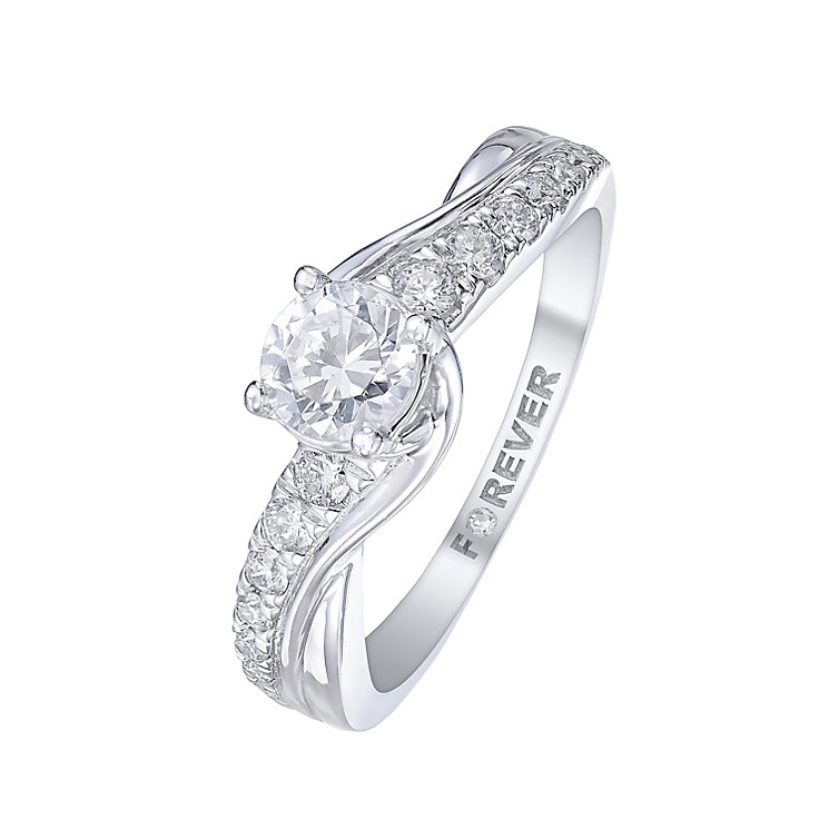 The Forever Diamond Platinum 3/4 Carat Diamond Ring - Product number 5421357