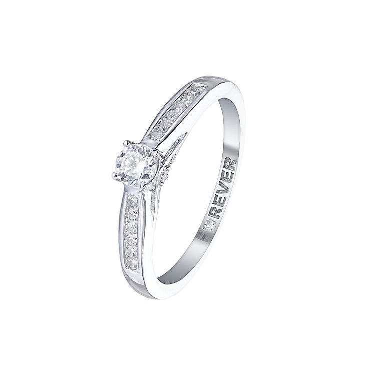 The Forever Diamond 18ct White Gold 1/3 Carat Diamond Ring - Product number 5421926