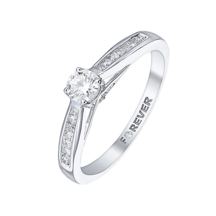 The Forever Diamond 18ct White Gold 1/4 Carat Diamond Ring - Product number 5422329