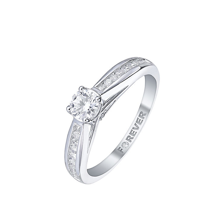 The Forever Diamond 18ct White Gold 1/2 Carat Diamond Ring - Product number 5422558