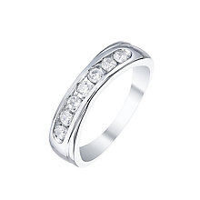 Forever Palladium 0.35ct Diamond Solitaire Eternity Ring - Product number 5424070