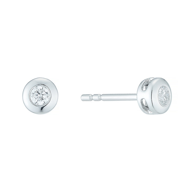 Forever 18ct White Gold 0.10ct Diamond Earrings - Product number 5424321