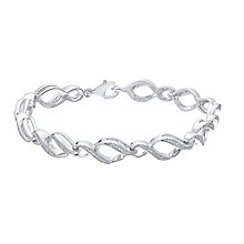 Sterling Silver 0.16 Diamond Link Bracelet - Product number 5424704