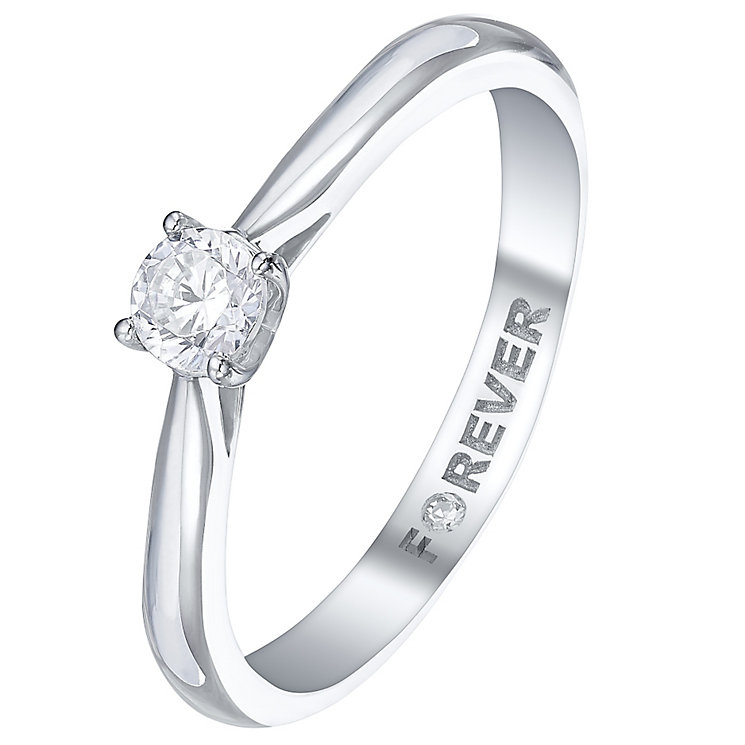 The Forever Diamond Platinum 1/4 Carat Diamond Ring - Product number 5427118