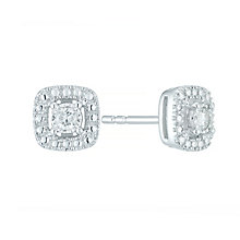 Sterling Silver 0.10ct Diamond Illusion Set Stud Earrings - Product number 5427606