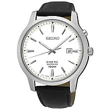 Seiko Gent's Black Strap Watch - Product number 5427959