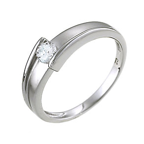 9ct White Gold Cubic Zirconia Ring - Product number 5433002