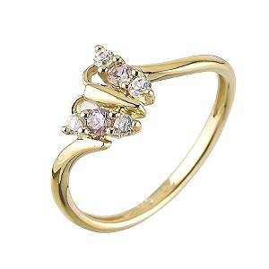 H Samuel Childrens 9ct Gold Butterfly Ring Size J product image