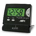 Mini LCD Flip Black Travel Alarm Clock - Product number 5460239