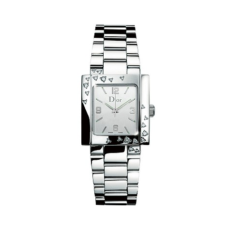 Dior Riva M Sparkling ladies' stainless steel diamond watch