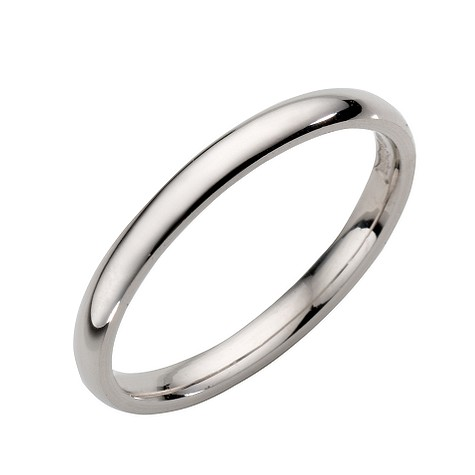 18ct white gold extra heavy 2mm court ring