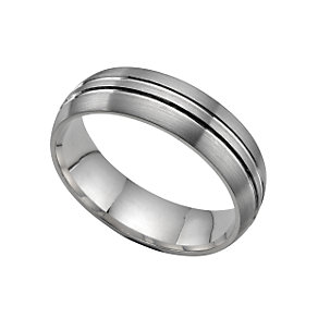 Platinum 6mm court wedding ring - Product number 5488249