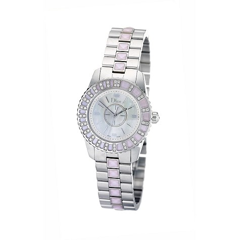 Dior Christal ladies' mother of pearl diamond-set watch
