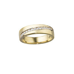 18ct gold quarter carat diamond court wedding ring - Product number 5492394