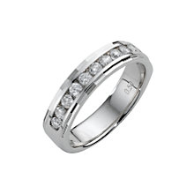 18ct white gold half carat diamond wedding ring - Product number 5492793