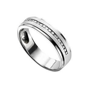 18ct white gold diamond wedding ring - Product number 5495350