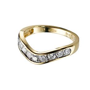 18ct gold half carat diamond wedding ring - Product number 5496284