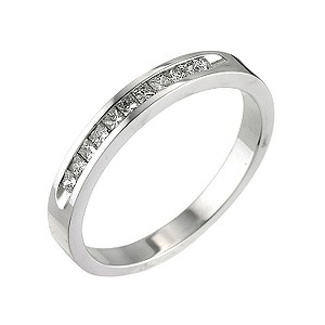 18ct white gold quarter carat princess cut diamond ring - Product number 5497647
