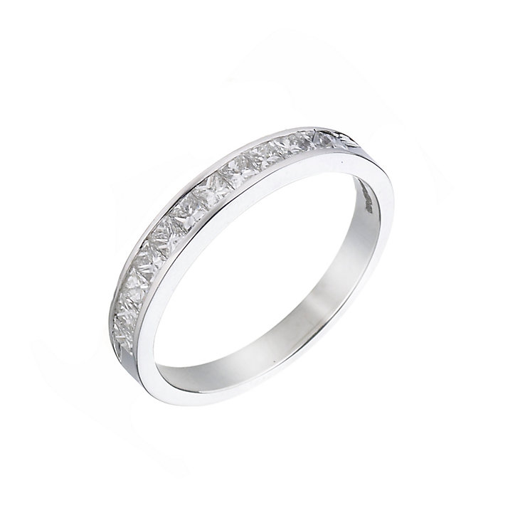 18ct white gold half carat diamond ring - Product number 5497787
