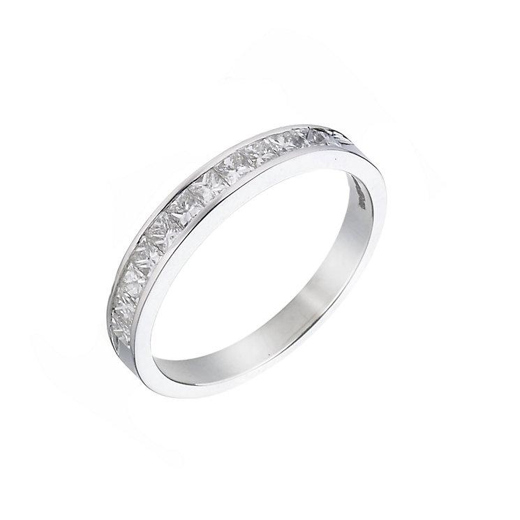 18ct white gold half carat diamond ring - Product number 5497787