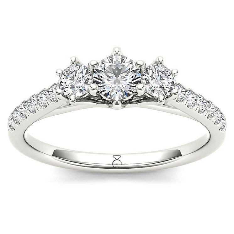 The Diamond Story 18ct White Gold 0.75ct Diamond Ring - Product number 5511399