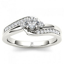 The Diamond Story 18ct White Gold 33pt Diamond Ring - Product number 5511666