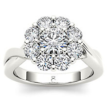 The Diamond Story 18ct White gold 1.50ct Flower Burst Ring - Product number 5511925
