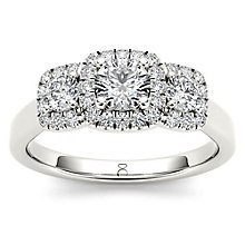 The Diamond Story 18ct White Gold 0.75ct Diamond Halo Ring - Product number 5512069