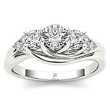 The Diamond Story 18ct White Gold 0.75ct Diamond Ring - Product number 5512336
