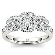 The Diamond Story 18ct White gold 1.25ct Flower Burst Ring - Product number 5512468